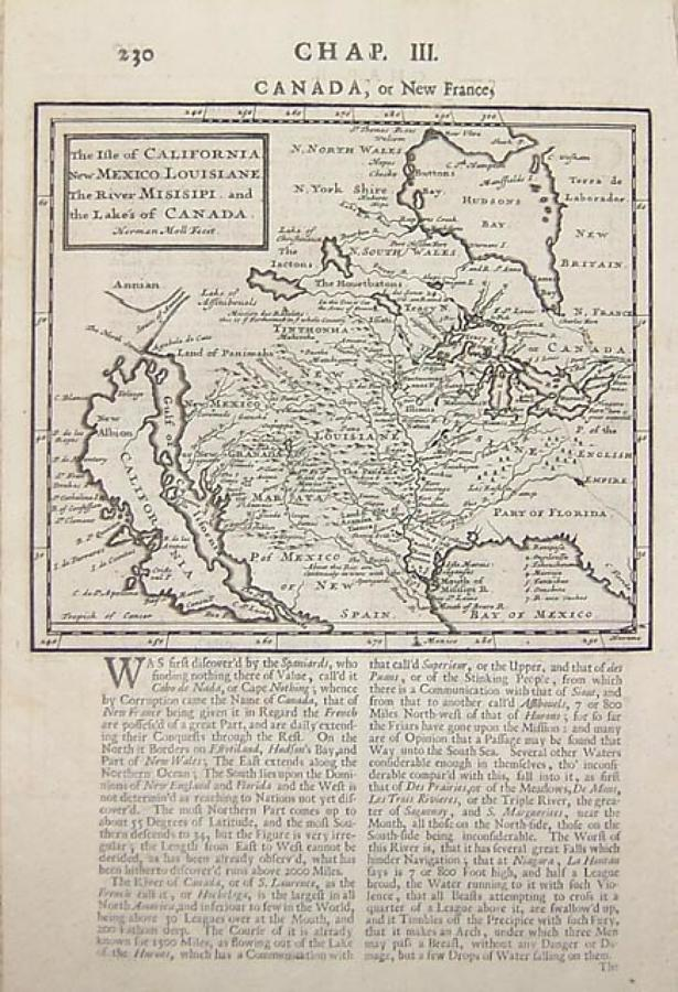 Moll - (2) Isle of California /English Empire