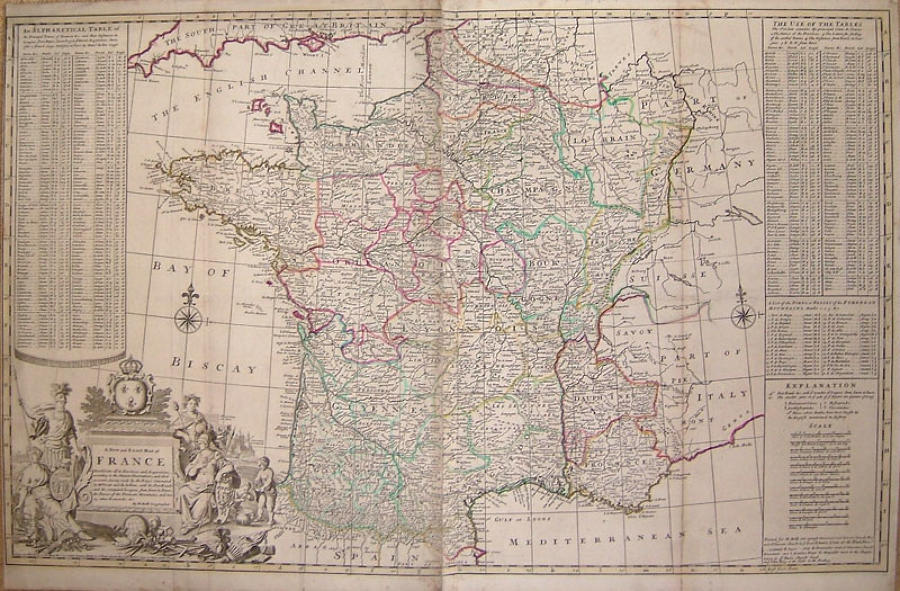 Moll - A New and Exact Map of France