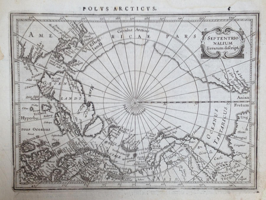 Mercator / Jansson - Polus Arcticus