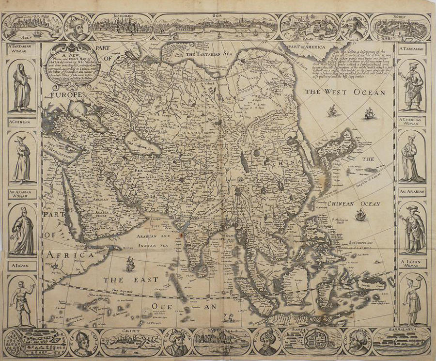 Walton - A New Plaine and Exact Map of Asia