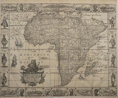 Walton - A New Plaine and Exact Map of Africa