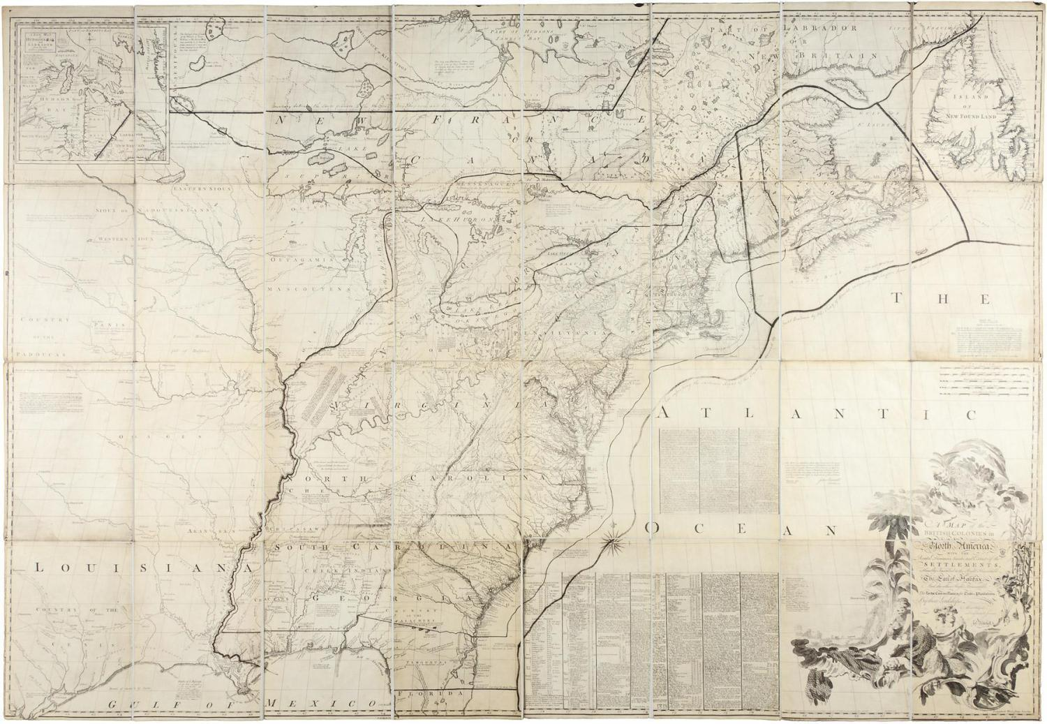 Mitchell - A Map of the British Colonies in N