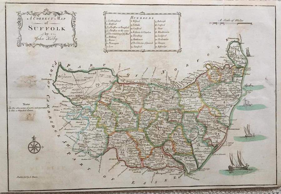 John Kirby - A Correct Map Of Suffolk