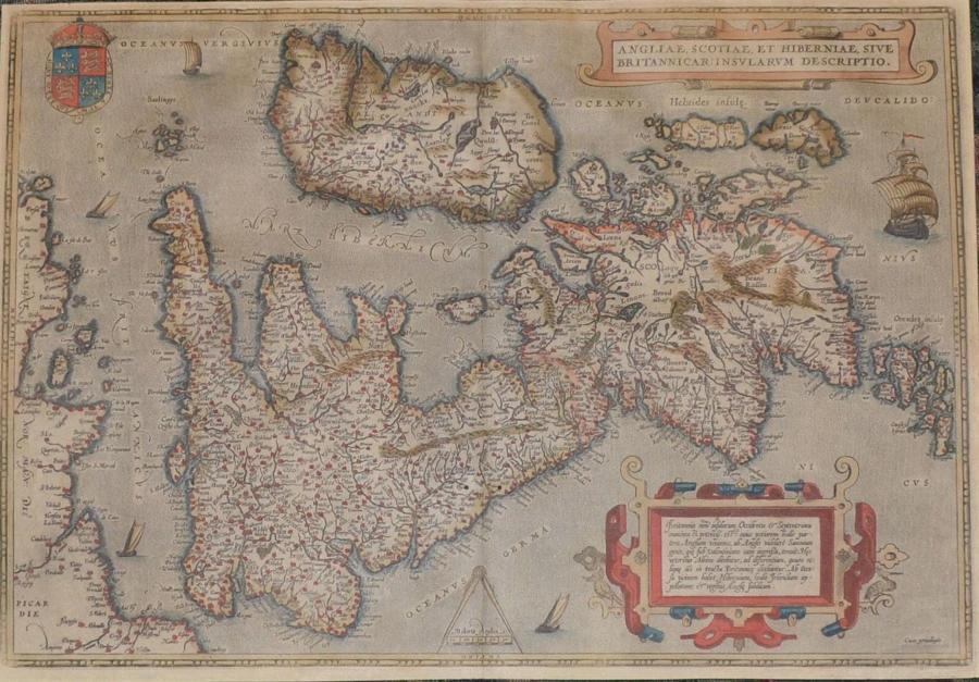 Ortelius - Angliae, Scotiae, Hiberniae