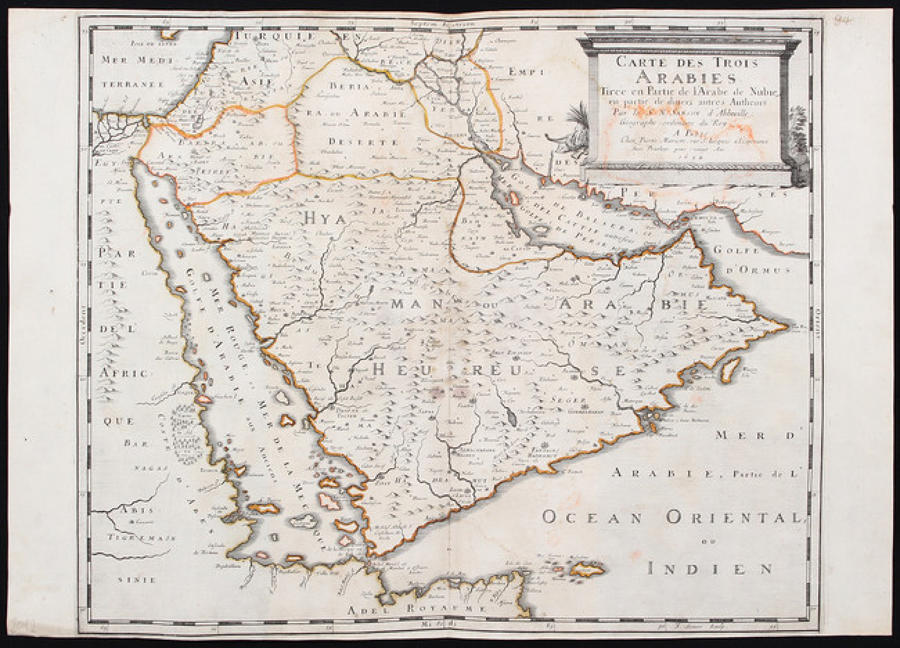 Sanson - Carte des Trois Arabies