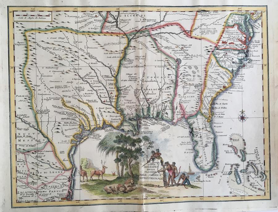 Albrizzi - Carta geografica della Florida