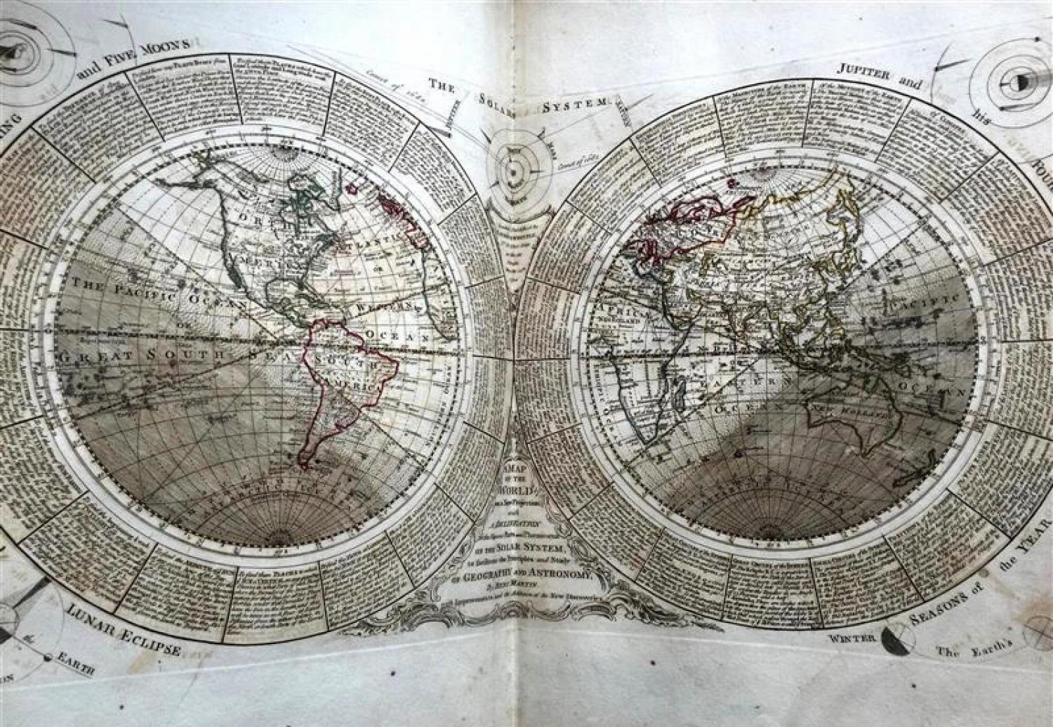 MARTIN, Benjamin/Samuel Dunn Map of the World