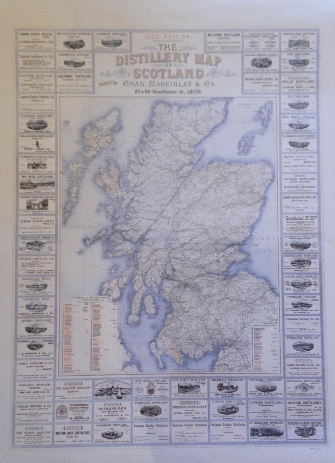 Mackinlay & Co - The Distillery Map Of Scotla in Scotland on