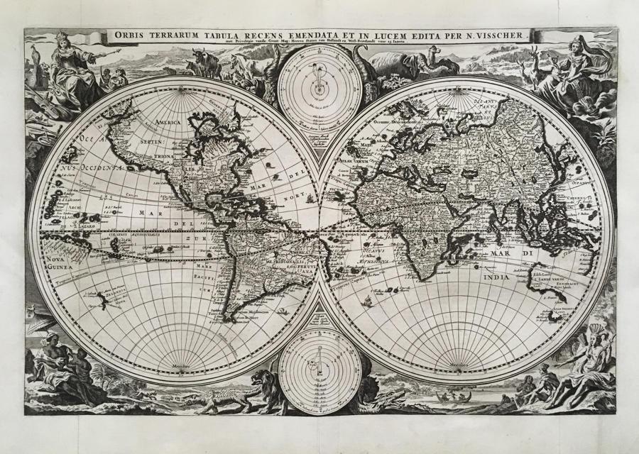 Visscher - Orbis Terrarum Tabula
