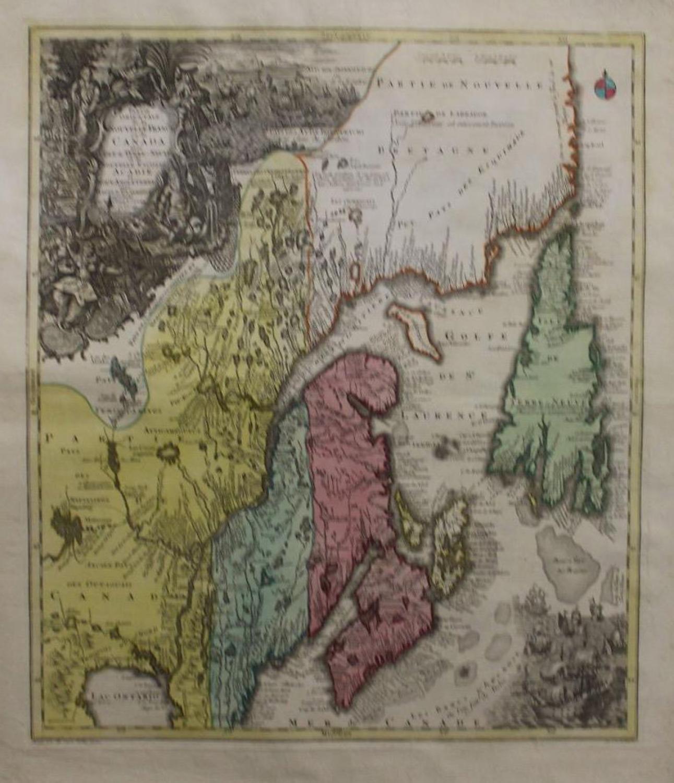 Seutter - Nouvelle France ou du Canada