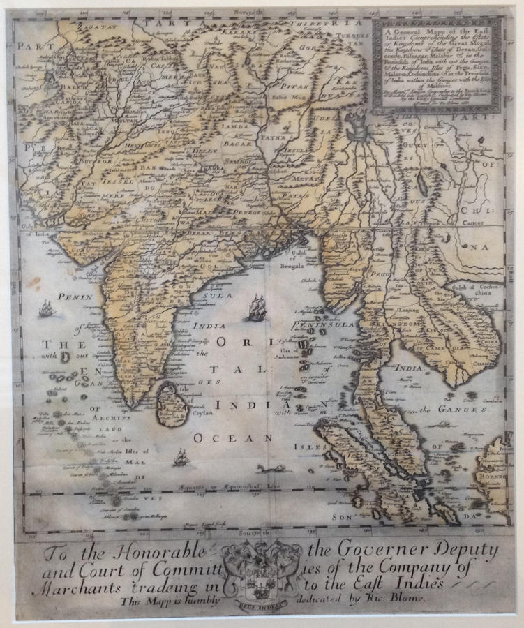 Blome - A General Mapp of the East Indies