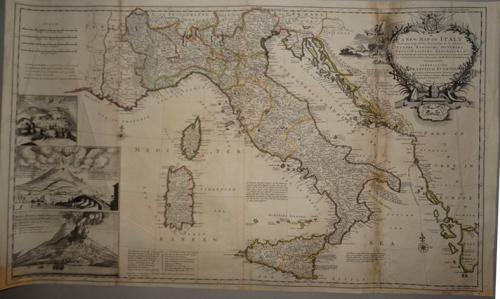 Herman Moll - A New Map Of Italy