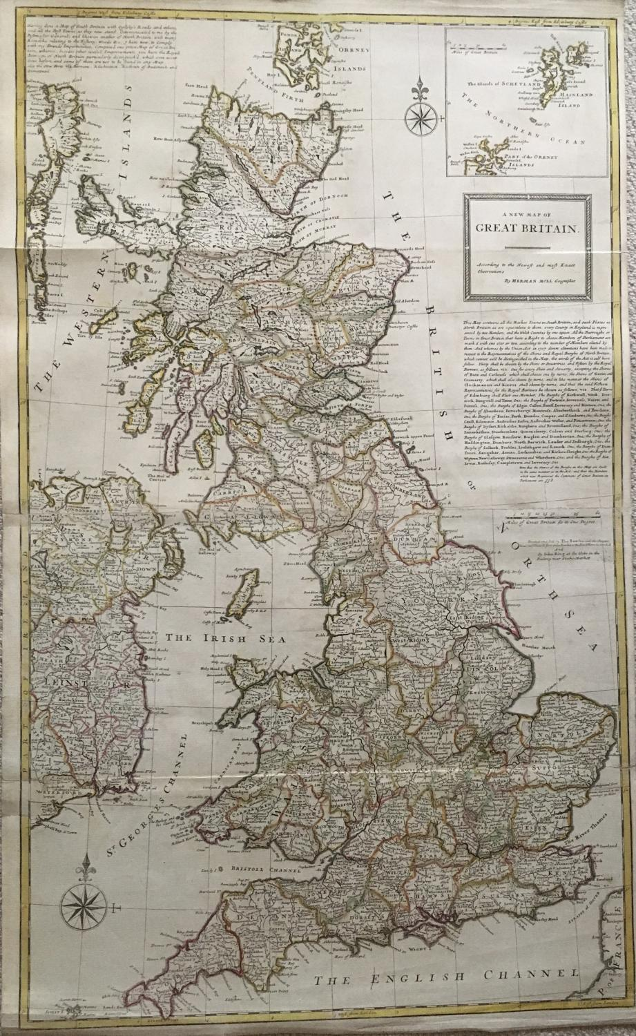 Herman Moll - A New Map of Great Britain