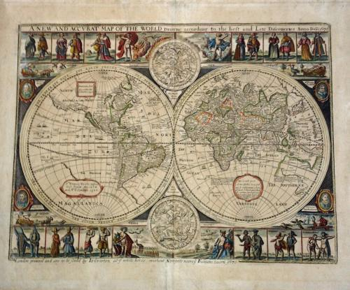 John Overton New and Accurat Map of the World