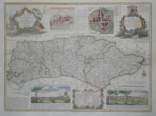 Bowen - Accurate Map of the County of Sussex