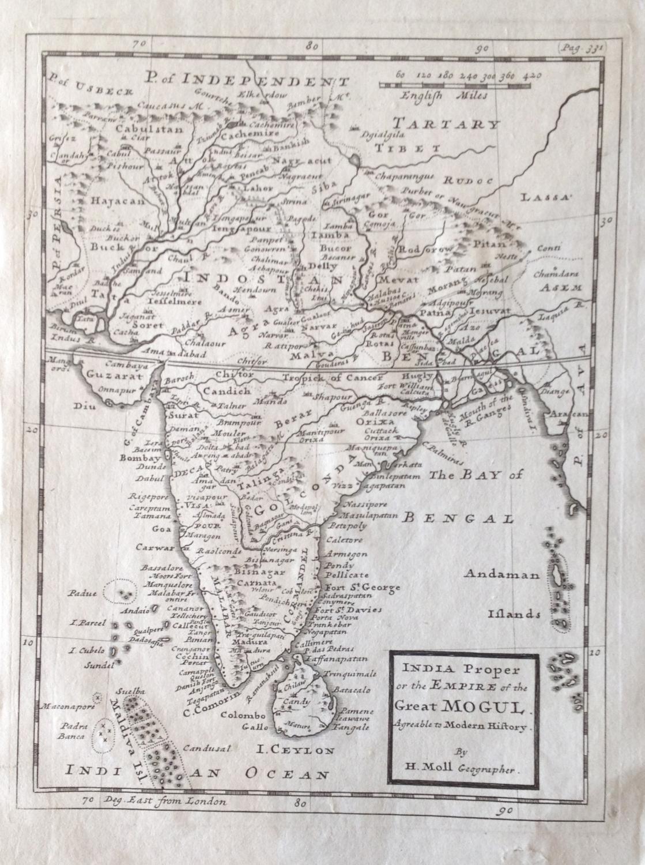 Moll - India Proper Empire of the Great Mogul