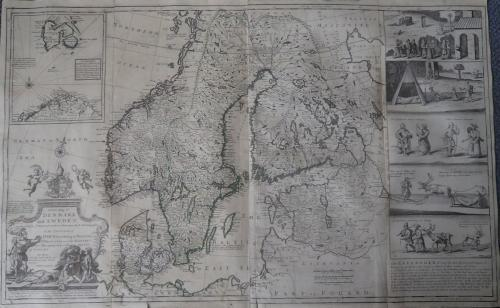 Moll - A New Map of Denmark and Sweden