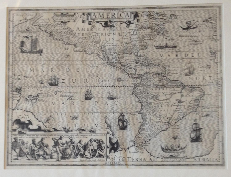 Hondius - America, Asia. Africa, Europe