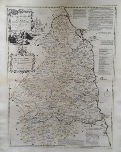 Kitchin - A New & Improved Map of Northumberl