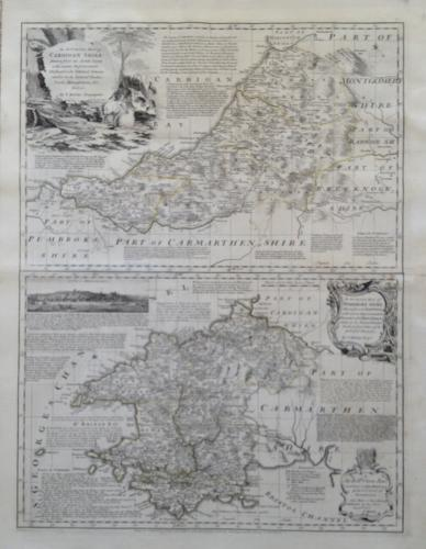 Kitchin - Map of Cardiganshire/Pembrokeshire