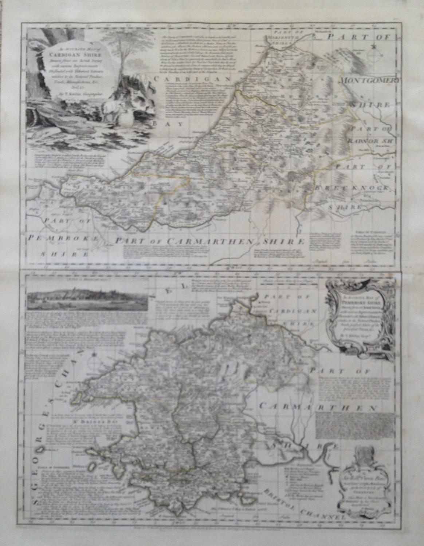 Kitchin - Map of Cardiganshire/Pembrokeshire