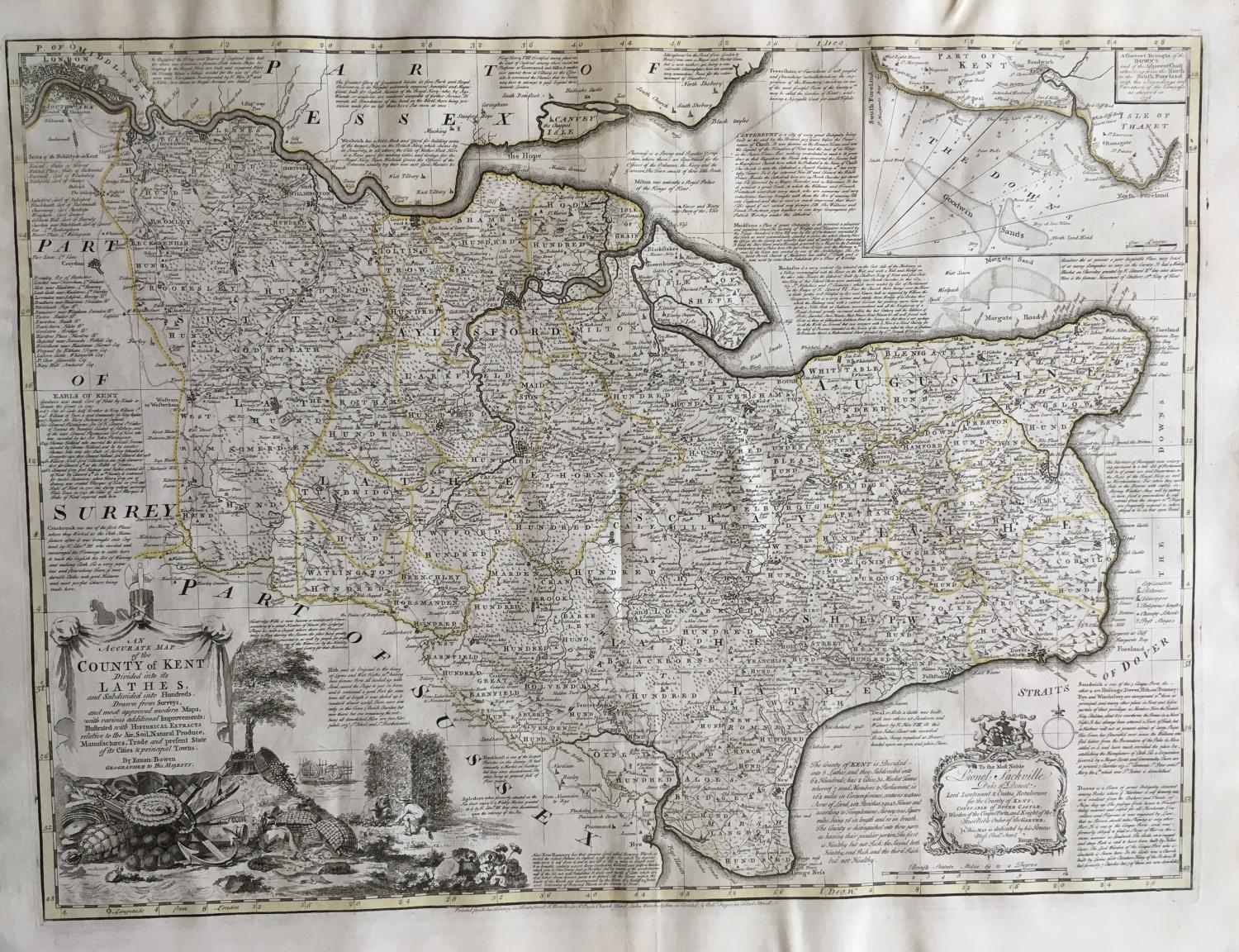 Bowen - Accurate Map of the County of Kent