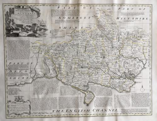 Bowen - Accurate Map of Dorsetshire