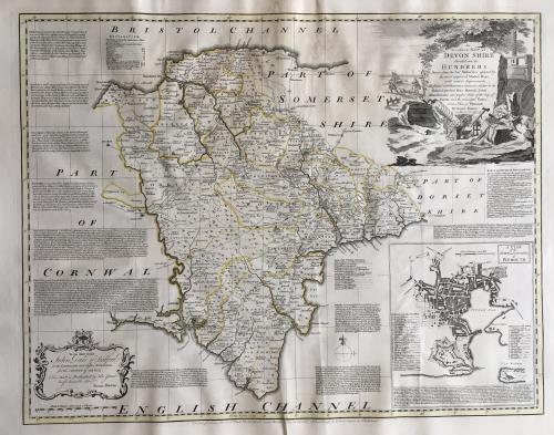 Bowen - Accurate Map of Devonshire