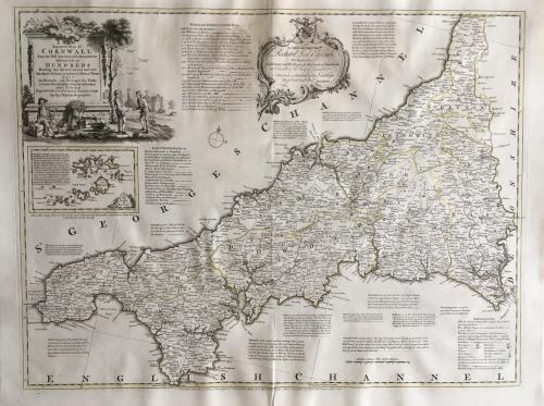 Kitchin - A New & Improved Map of Cornwall