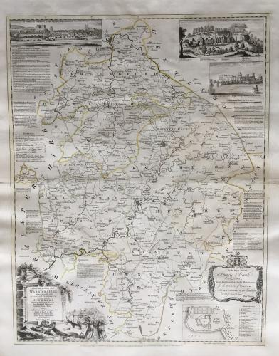 Bowen - An Improved Map of... Warwickshire