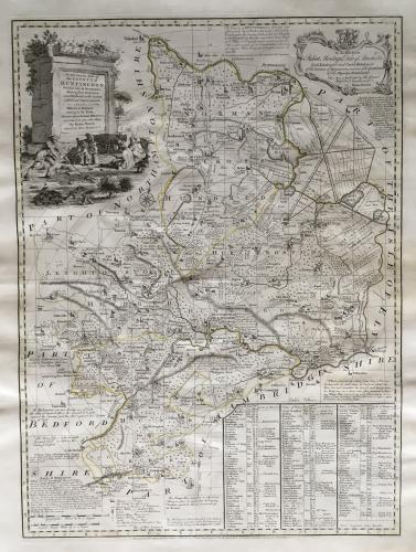Bowen - Accurate Map of the County of Hunting