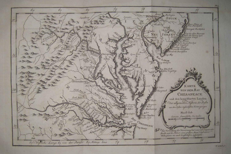 Bellin - Karte von der Bay Chesapeack