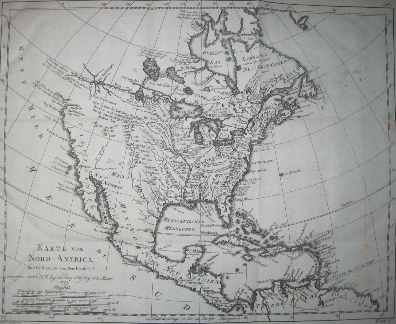 Bellin - Karte von Nord-America