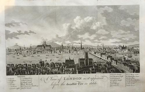 A View of London before the dreadful fire in