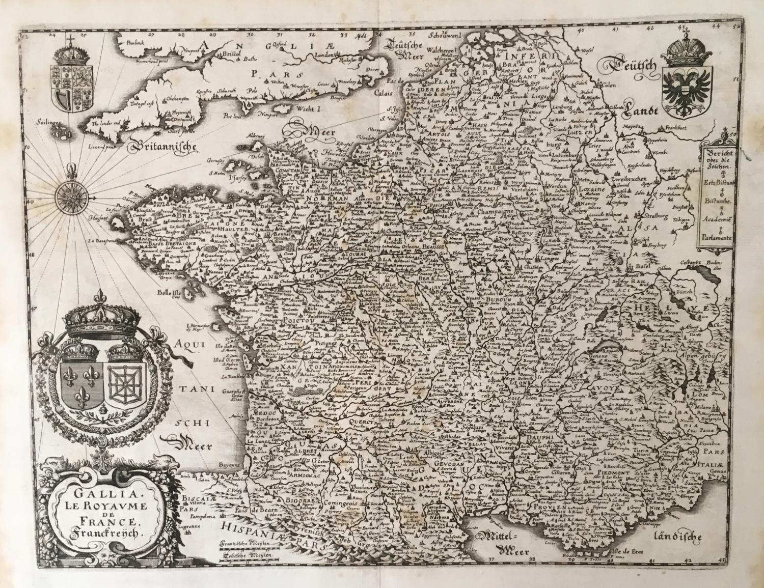 Merian - Gallia. Le Royaume de France