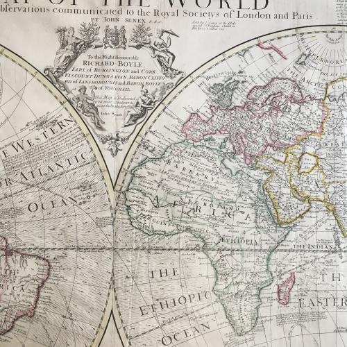 John Senex - A Map of the World