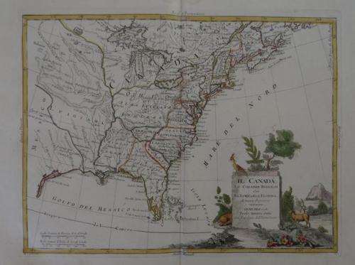 Zatta - Il Canadá le Colonie Inglesi