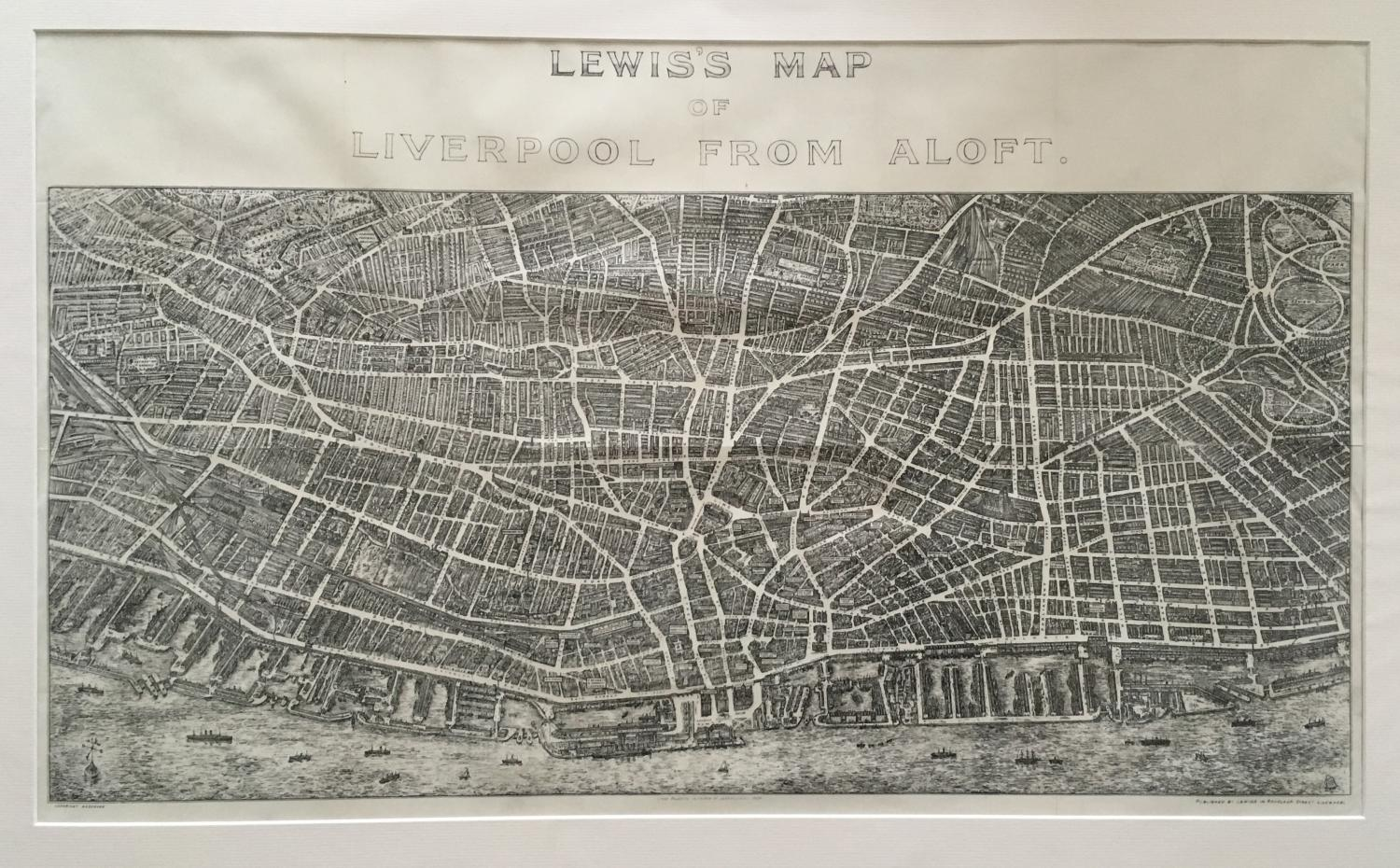 Lewis - Map of Liverpool from Aloft