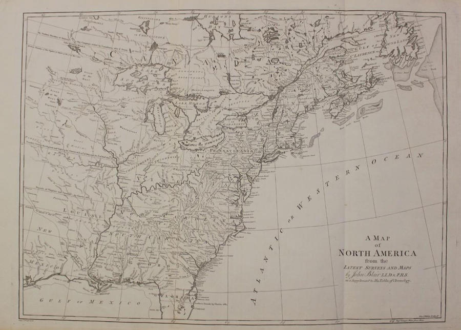 Blair - A Map of North America from the Lates