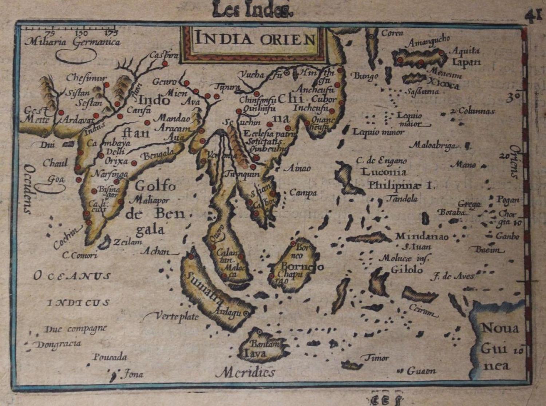 Bertius - Les Indes. India orien