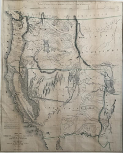Fremont - Map Of Oregon And Upper California