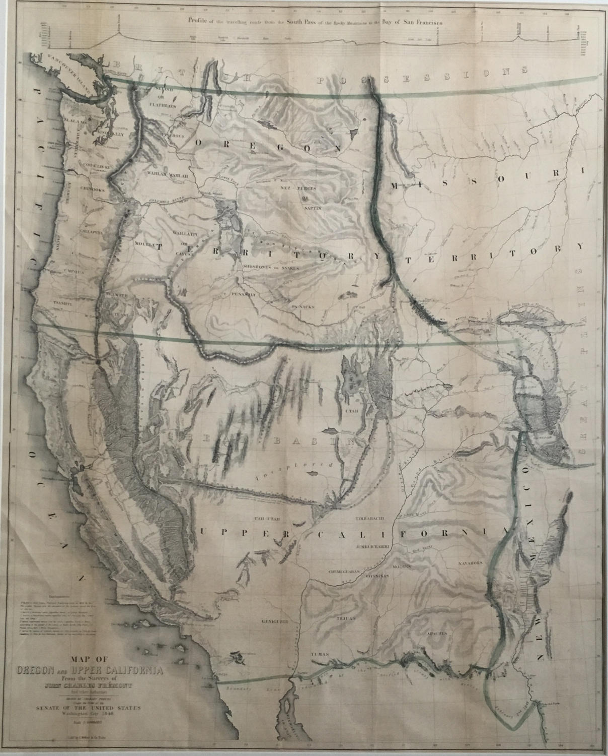 Fremont Map Of Oregon And Upper California In North America - Mapoforegon