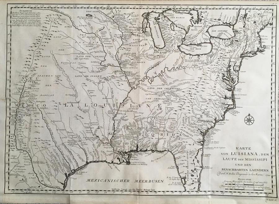 Bellin - Karte von Luisiana