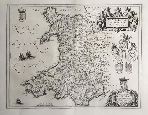 Blaeu - Wallia Principatus vulgo Wales