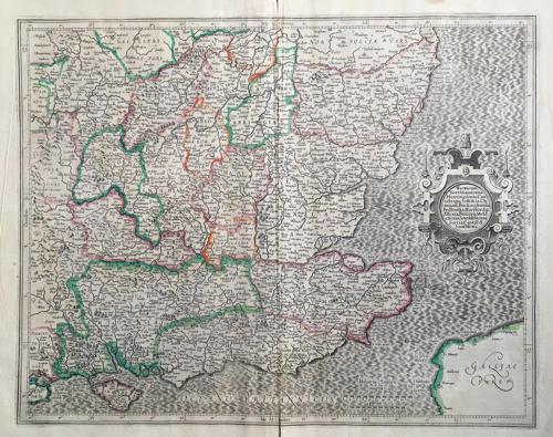 Mercator - Warwicum, Northhamtonia, Huntingdo