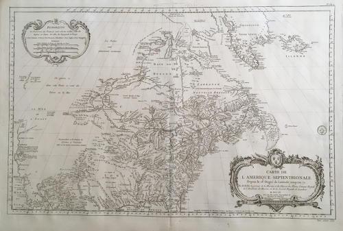 Bellin - Carte de l'Amerique Septentrionale