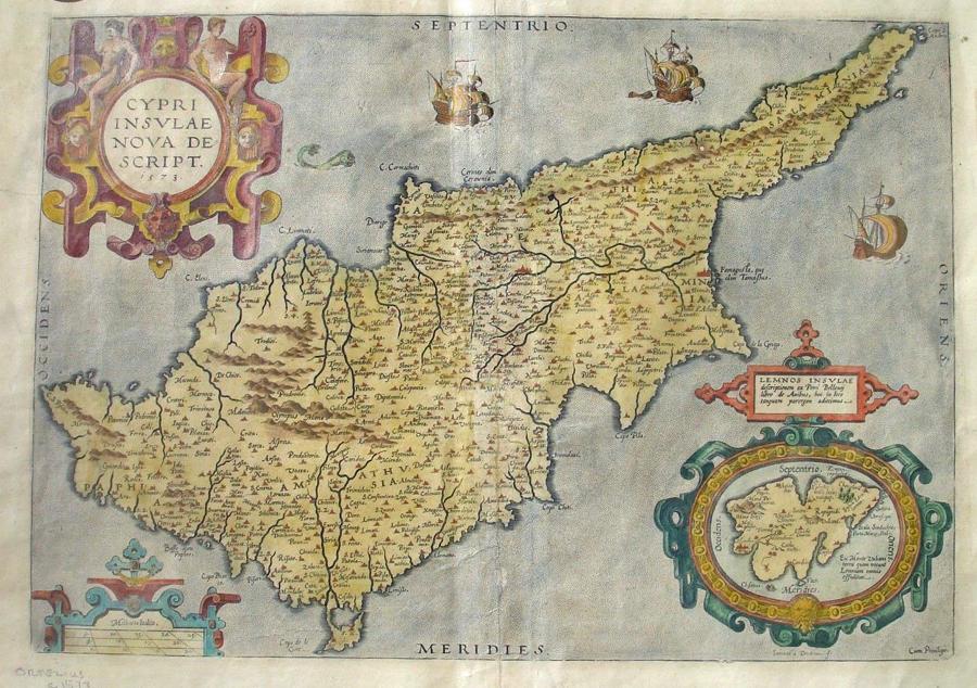 Ortelius - Cypri insulae nova descript