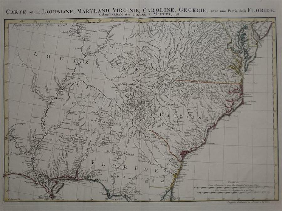 Covens & Mortier - Carte de la Lousiane, Maryland..