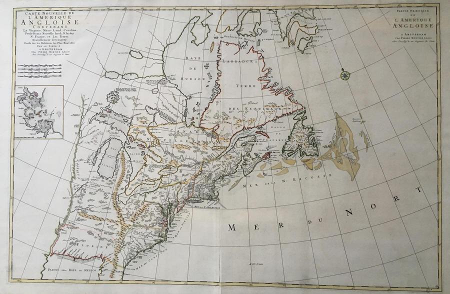 Mortier - Carte Nouvelle de l'Amerique Angloise