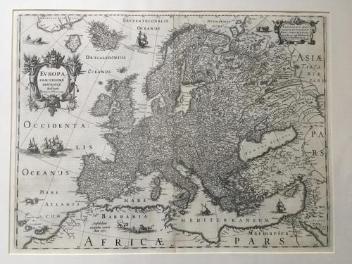 Hondius - Europa Exactissima Descriptio